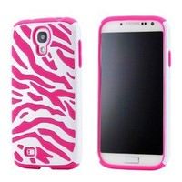 Caller Id Front View Leather Pu Magnetic Holder Flip Case Cover for Samsung Galaxy S4 i9500 (pink case)