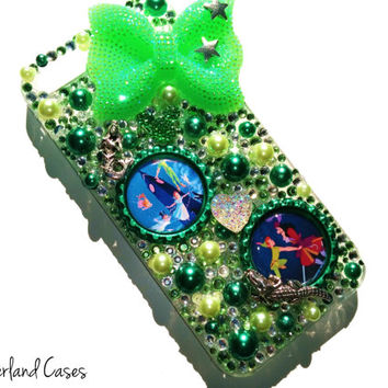 Custom Peter Pan Phone Case iPhone Wendy Hook Neverland Phone Case iPhone Bling Rhinestone Case Cover Phone iPhone 6 5 5S