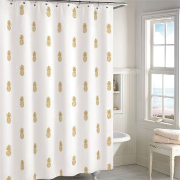 Destinations Golden Pineapple Shower Curtain | Nordstrom