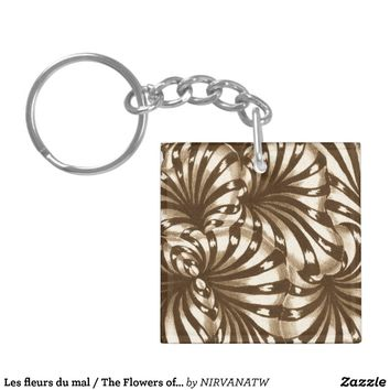 Les fleurs du mal / The Flowers of Evil Keychain from Zazzle.com