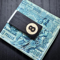 8 ball Handcrafted wood money clip