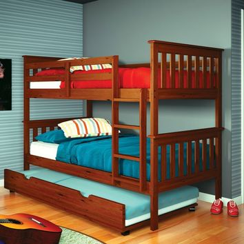 William Bunk Bed for Kids with Trundle