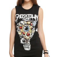 Ghost Town Pizza Girls Muscle Top