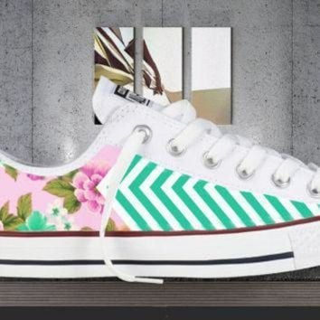 CREYON all colors floral chevron printed converse all star chuck taylor sneakers unisex