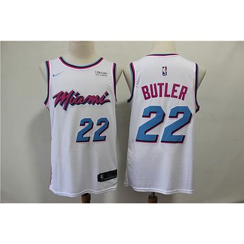 Miami Heat 22 Jimmy Butler White City Edition Jersey
