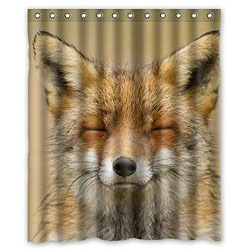 Hot Fox Close Eyes waterproof shower curtains bathroom products polyester 160x180cm bathroom shower curtain
