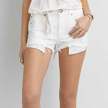 AEO Hi-Rise Shortie, Fresh White