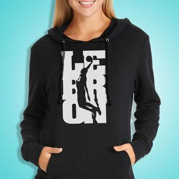 Lebron James Oft Ringspun Cotton By Hanes Cleveland Ohio Women'S Hoodie