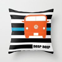 VW Bus Throw Pillow by see BOLD