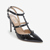 Valentino Punkouture Allover Stud T Strap Slingback Pump-Just In-Shoes-Categories- IntermixOnline.com