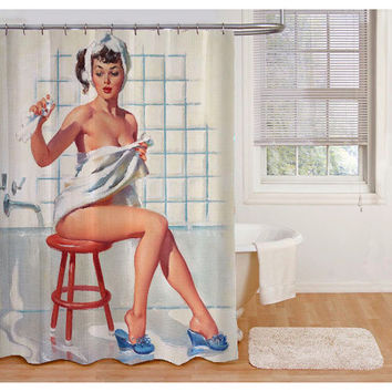 Retro Sexy Shower Curtains