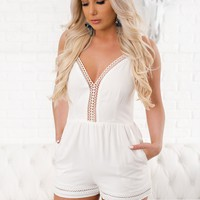 Love You Like That Crochet Romper (White)