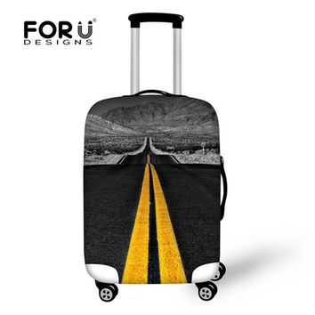 FORUDESIGNS Highway Travel Luggage Cover for 18-30 Inch Case Dustproof Zipper Suitcase Covers Accessories Luggage Protective New