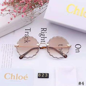 CHLOE 2018 new women's fashion high-definition large frame polarized sunglasses #4