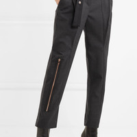 Proenza Schouler - Belted wool-blend straight-leg pants