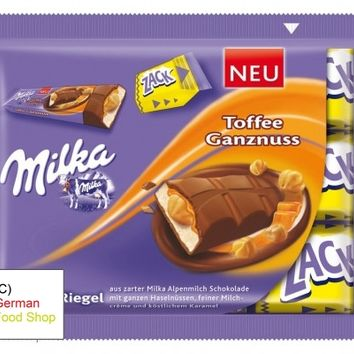 Milka Chocolate Bar Toffee Whole Nut, 3-Pack