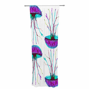 "Ivan Joh ""Jellyfish"" Purple Aqua Decorative Sheer Curtain"