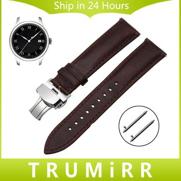Imported Calf Genuine Leather Watchband 18mm 20mm 22mm for Tissot Longines Mido Luminox Quick Release Pin Watch Band Wrist Strap