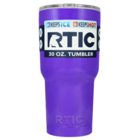 Custom Designed RTIC Purple Gloss 30 oz Tumbler