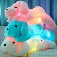 Creative Night Light LED Lovely Dog Stuffed Animals and Lighting Plush Toys Best Gifts for Kids