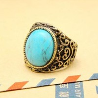 Vintage Style Turquoise Ring by goodbuy on Zibbet