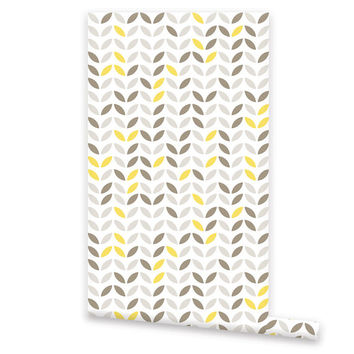 Designer WALLPAPER, Removable Vinyl Wallpaper, Wall Decal, Peel & Stick, Repositionable Self Adhesive Wallpaper, Geometric Pattern