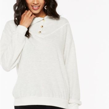 Ravine Button Neck Pullover