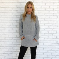 Sweet Melody Knit Sweater In Grey