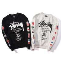 DCCKJN3 Round-neck Stussy Pullover Hoodies Couple Jacket [103865352204]