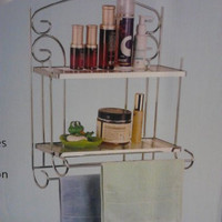 Chrome Bathroom Rack with Towel Bars