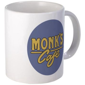 Monk's Cafe Coffee Mug Shop Jerry Seinfeld Sienfeld Tea Kramer Elaine George - Walmart.com