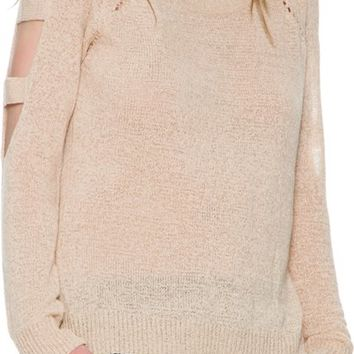 SWELL SEE ME CUT OUT SLEEVE SWEATER