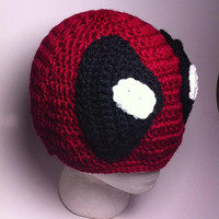 Dead Pool Crochet Beanie sizes newborn to Adult