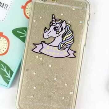 Glitter Unicorn Soft Case for iPhone 6 6s 6 Plus 6s Plus