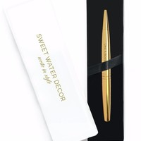 Like a Boss Metallic Gold Pen with Gift Box