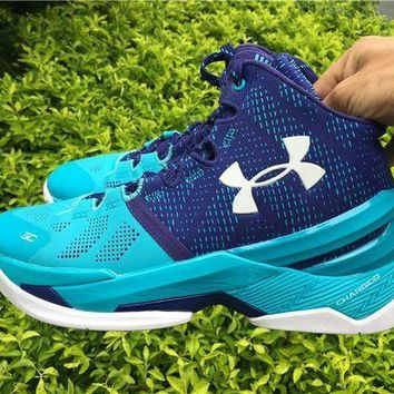 VONE7Y2 Under Armour Curry 2 UA 1259007-478 Basketball shoes