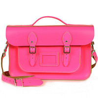 bohemia neon leather briefcase satchel by bohemia | notonthehighstreet.com