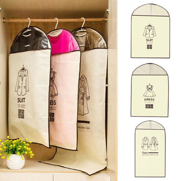 1Pcs Coat Clothes Garment Suit Cover Bags Dustproof Hanger Storage Protector Travel Storage Organizer Case 60*90cm/60*120cm