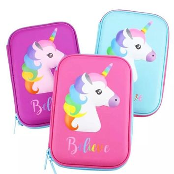 unicorn school pencil case Minecraft kalem kutusu Cute animal estuche escolar EVA stationery pen case pencil box papelaria