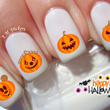 50 Pumpkin Nail Decals