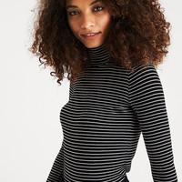 AEO Soft & Sexy Ribbed Turtleneck, Black