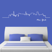 Wall Decal Vinyl Sticker Decals Art Decor Design Skyline Sign New York Words NY City Statue of Liberty Bedroom Office Dorm (r707)