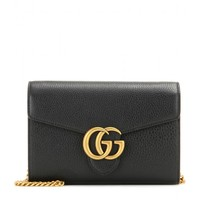 GG Small leather shoulder bag