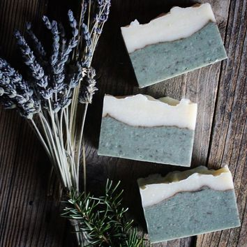 Song of a Sparrow - Lavender, Rosemary + Sea Clay Handmade Soap