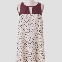 Just My Luck Polka Dot Dress