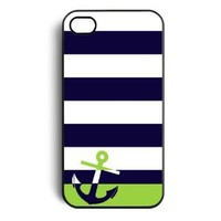 Navy Sailor Anchor Snap on Case Cover for Apple Iphone 4 Iphone 4s Cellphone Case