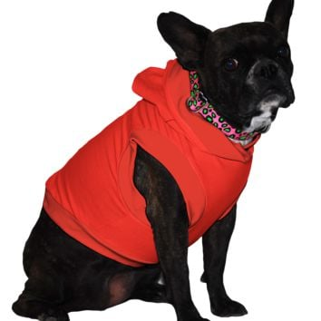 French Bulldog Hoodie T-Shirt - Fits 16 to 30 Pound Dog - Available in 6 Colors!