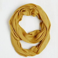 70s Brighten Up Circle Scarf in Mustard by ModCloth