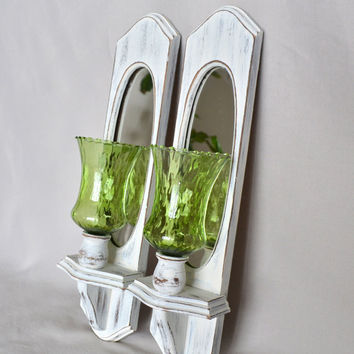 Wood And Glass Candle Wall Sconces : Best Shabby Chic Candle Wall Sconces Products on Wanelo