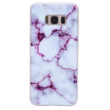 Purple Streak Marble Samsung Case